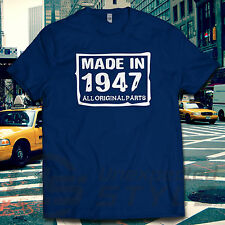 MADE IN 1947 70th BIRTHDAY All original parts T-shirt Present Gift 70 years old