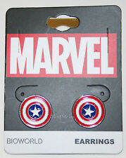 NEW Marvel Captain America Costume Shield Stud Earrings Jewelry red white blue