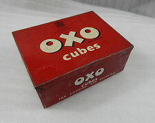 vintage OXO Cubes tin.24x6 cubes By appointment to the late King George VI versi