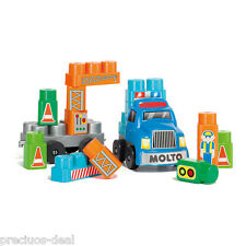 Kids Molto Construction Building Blocks With Accessories Toy Play Set