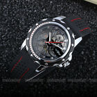 Fashion Gear Black Rubber Band Automatic Mechanical Skeleton Watch For Men M105