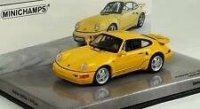 RARE MINICHAMPS PORSCHE 911 964 TURBO S LIGHTWEIGHT YELLOW 1:43 1 OF 1008