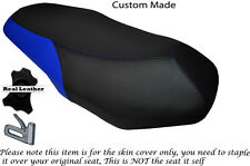 ROYAL BLUE & BLACK CUSTOM FITS PEUGEOT SUM UP 125 DUAL LEATHER SEAT COVER