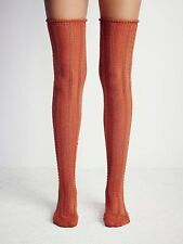 NEW FREE PEOPLE $24 Thigh High Socks Stretchy Textured Long Tall One Size NWT