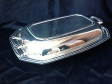 Antique Silver Plate Lidded Serving Dish With Handles - F C & Co - Sheffield