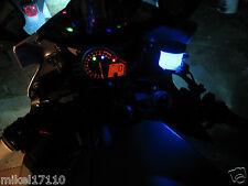 1 Blue LED Motorcycle Accent String Light Glow Neon Custom Brake Reservoir GSXR
