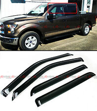 FOR 2015-2017 FORD F150 4 DOOR CREW CAB OFFROAD WINDOW VENT VISOR RAIN GUARD