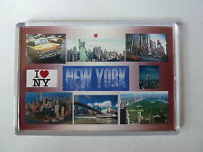 NEW YORK - JUMBO FRIDGE MAGNET - Big Apple, Empire State, Manhattan, Liberty