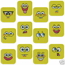 * SPONGE FACES * Machine Embroidery Pattern CD * 12 designs, 2 sizes