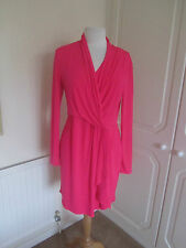 BN VICTORIAS SECRET NEON PINK STRETCHY JERSEY DRAPE DRESS SIZE L