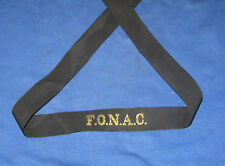 Vintage Royal Navy F.O.N.A.C. Cap Tally