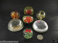 7  VINTAGE GLASS PAPER WEIGHT COLLECTION BUTTERFLY   UNDERSEA FLOWERS ?