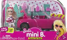 BARBIE MINI B CONVERTIBLE SPORT CAR SERIES WITH DOLL NEW