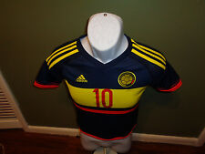 adidas Colombia 2015 Away Jersey Navy James 10 size youth small climacool
