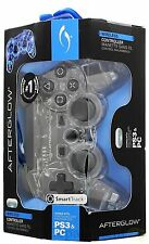 Afterglow Blue Lighting Wireless Controller For PS3 & PC NEW
