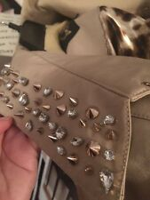 NWT Sam Edelman Trench Coat L With Spikes And Rhinestones RETAIL $475