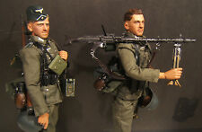 "1/6 WW II German Wehrmacht Machine Gun Team ""Heinrich & Erich"" Dragon Models"