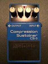 Boss CS-3 Compressor Guitar Effect Pedal Made in Taiwan February 2001 SN.TO37362