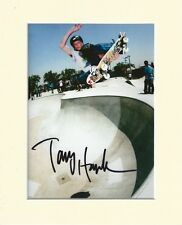 TONY HAWK SKATEBOARDER LEGEND PP 10X8 MOUNTED SIGNED AUTOGRAPH PHOTO