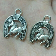 10pc Retro Tibetan Silver horse Charm Beads Pendant accessories Findings C1