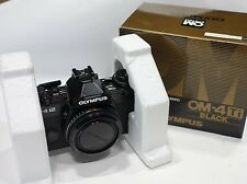 Olympus OM-4Ti Black 35mm SLR camera body, BOXED, fully working OM4 Titanium