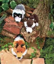 3 WILDERNESS PET DOG BALL TOSS TOYS GREAT FOR GAMES OF FETCH AND TUG OF WAR