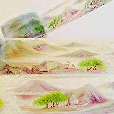 "WASHI TAPE: 1-3/16"" WIDE BEAUTIFUL ORIENTAL MOUNTAINS WASHI TAPE- NEW"