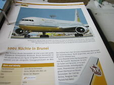 Airlines Archiv Brunei Royal Brunei Airlines 1001 Nächte in Brunei 4S