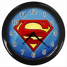 NEW* HOT SUPERMAN  Black Wall Clock Decor Gift