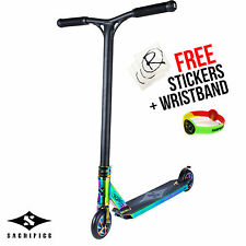 Sacrifice Flyte 100 Complete Stunt Scooter, NeoChrome Neo Chrome **RRP £270**