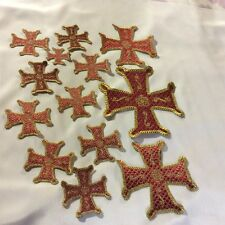 Orthodox Christian Priest's Vestment set of Embroidered appliqué crosses Liturgy