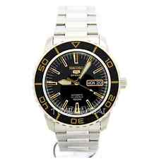 Seiko 5 Sports Automatic Black Dial Stainless Steel Mens Watch SNZH57J1