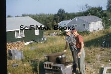 KODACHROME 35mm Slide Handsome Men Hats Smoking Drinking Beer Barbecue 1958!!!