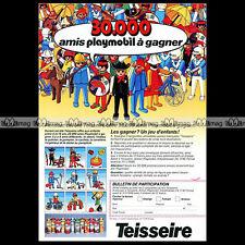 PLAYMOBIL & Sirop TEISSEIRE 'Jeu-Concours' 1986 Pub Publicité Advert Ad #A1129