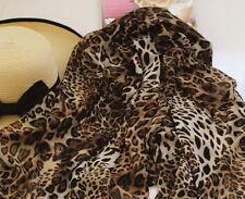 Damas Mujeres Moda Marrón Animal Estampado De Leopardo Bufanda Grande UK