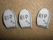R.I.P. TOMBSTONE Novelty Theme Button - Buttons Galore - All Crafts