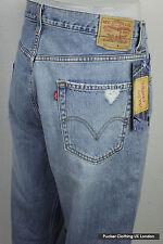 Levis Hombre Jeans 567 W 34 L 30 Suelto Boot Cut montaje Zip Luz lavado azul P10