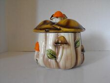 70's Homco Mushroom Canister/Cookie-Candy Jar #1410