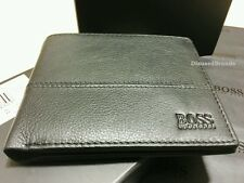 BRAND NEW DESIGNER HUGO BOSS WALLET 'PALLINO' 10 CREDIT CARD SLOTS BI-FOLD BLACK