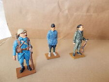 DEL PRADO 3 WW1 FIGURES - 2 X FRENCH, 1 ITALIAN  THE MEN AT WAR COLLECTION