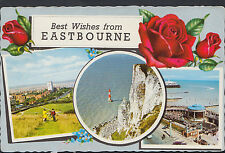 Sussex Postcard - Best Wishes From Eastbourne   RT707