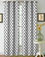 2 PRINTED DESIGN PANEL THERMAL LINED BLACKOUT DRAPE GROMMETS WINDOW CURTAIN