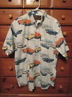 Mens NORTH RIVER OUTFITTERS SS Button Cotton Vintage Convertible Cars Shirt Sz L