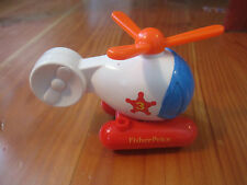 VINTAGE FISHER PRICE AIRPLANE Helicopter Flip Track egg-shaped 2276 Airport