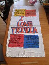 """1980's Trivial Pursuit beach towel 29x57"""" Trivia VINTAGE"""
