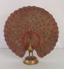 Hollywood Regency Brass Peacock Vintage Ashtray India Dish Decor Figurine