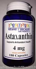 Astaxanthin Powerful Antioxidant Support 4mg 180 Capsules 6 month Supply USA