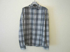 Les Hommes Clousean Checked Raw Edges Shirt