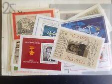 25 Different Germany East Mini-sheets Stamp Collection