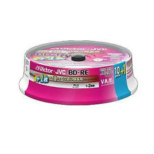 11 JVC Bluray Rewritable 25GB BD-RE 2X Speed Blu Ray Inkjet Printable Blank Disc